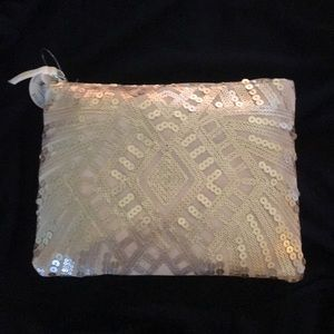 Rose Gold Sequin Pouch/Clutch